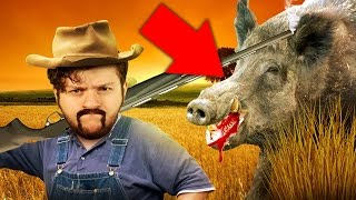 SKY HUNTS WILD GAME! | Blood and Bacon