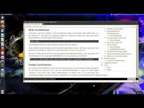 Ubuntu 11.10 : Compiz + Unity  zurücksetzen (Reset)