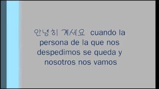 Adiós en coreano