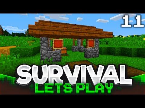 Market Area   Minecraft Survival Let's Play   Episode 11