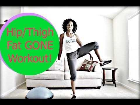Hip/Thigh Fat GONE Workout! [New Exercises!]