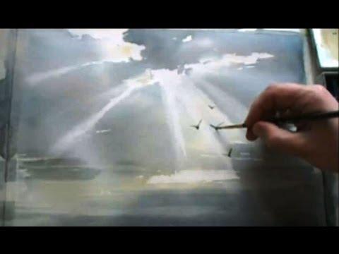 Как нарисовать птичку в небе