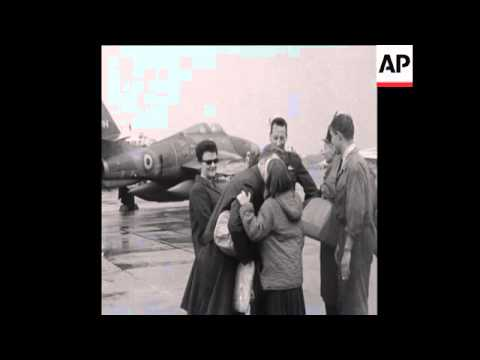 CAN 238 BELGIAN AIRFORCE OFFICERS LEAVE BRUSSELS FOR THE CONGO