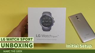 LG Watch Sport Unboxing & Initial Setup