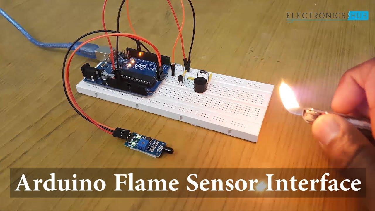 Arduino Flame Sensor Interface - Working, Circuit Diagram, Code
