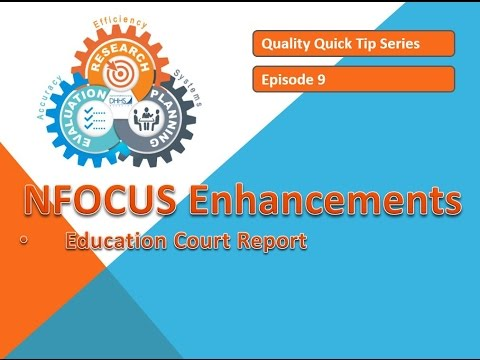 Quality Quick Tip #9 - Education Court Report