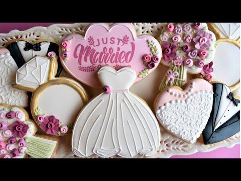 Wedding Cookie Tutorial - FIVE Designs!