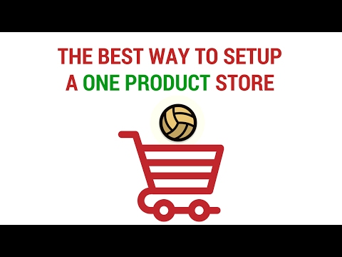 The Best Way To Setup A One Product Store In Shopify