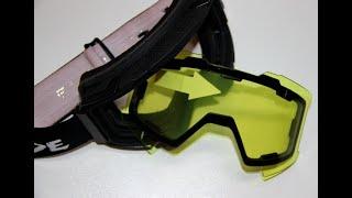 очки снегоходные со сменной линзой на магнитах - IRIDE