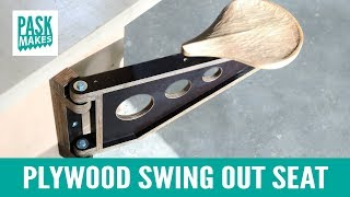 Plywood Swing Out Seat