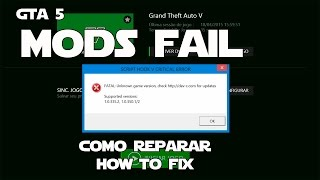 GTA 5: Mods Fail - How to Fix - Como Corrigir - Script Hook V