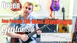 Queen - Keep Passing The Open Windows - Guitar Solo Tutorial Lesson