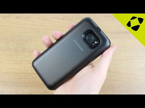 Official Samsung Galaxy S7 Edge Wireless Charging Battery Pack Case Review - Hands On