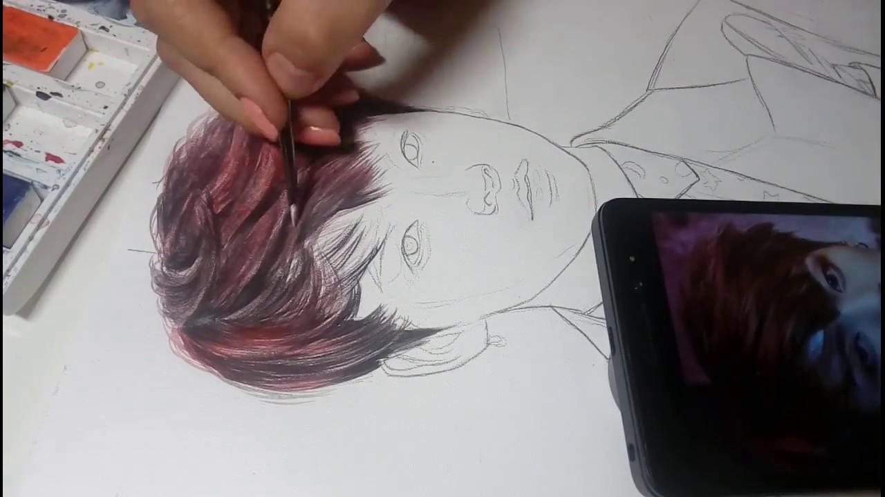 Как нарисовать волосы акварелью