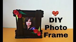 DIY - Photo Frame   Ice Cream Stick Photo Frame