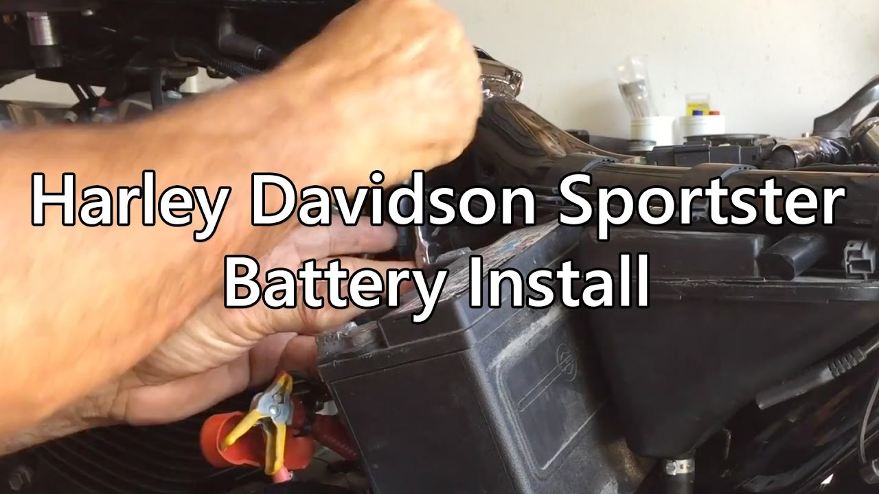 Harley Davidson Battery Install on a Sportster 1200 - YouTube 2291454a819d6