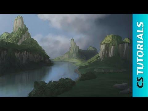 Digital Landscape Walkthrought - Speed Painting Tutorial (#Photoshop)   CreativeStation