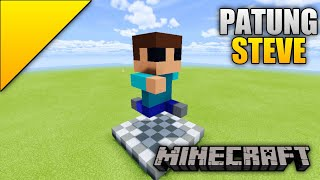 Cara Membuat Patung Steve - Minecraft