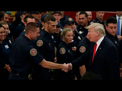 Trump thanks firefighters