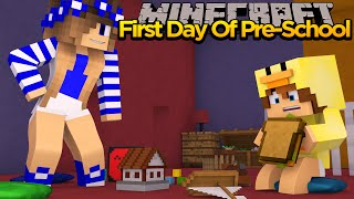 MINECRAFT PRE SCHOOL - BABY DUCK & LITTLE CARLY'S FIRST DAY AT PRE SCHOOL!!!