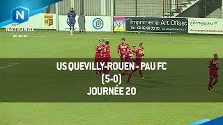 J20 : US Quevilly-Rouen - Pau FC (5-0), le résumé