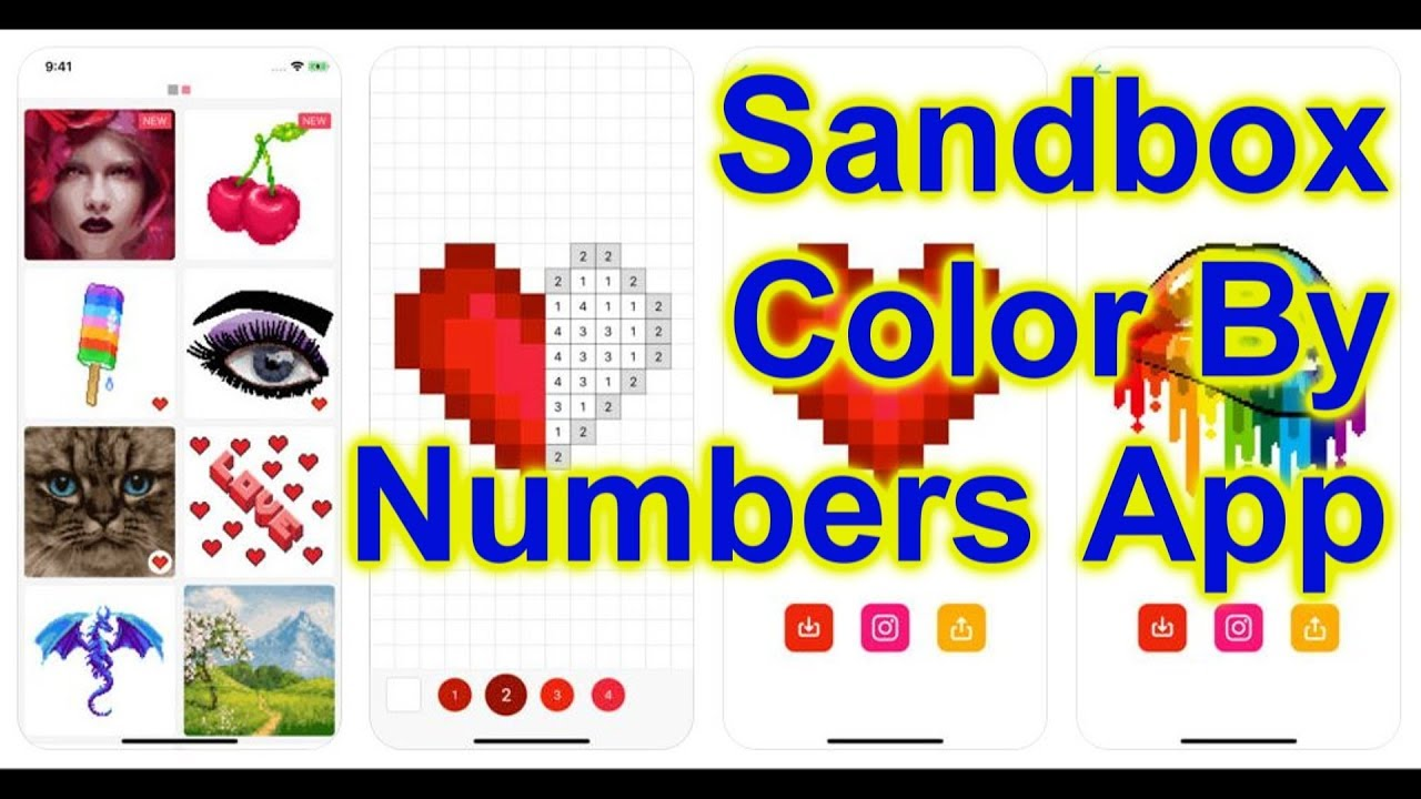 Sandbox   Color by Numbers Coloring App For Cell Phone