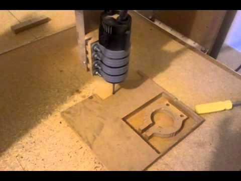 Home built cnc router cuting out new router mounts youtube for Home built router