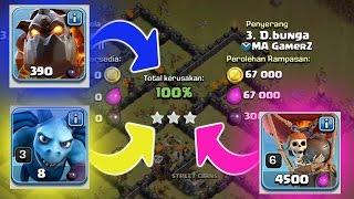 vuclip PASUKAN UDARA - Cara 3 Bintang Clan War TH 9 - Clash Of Clans Indonesia