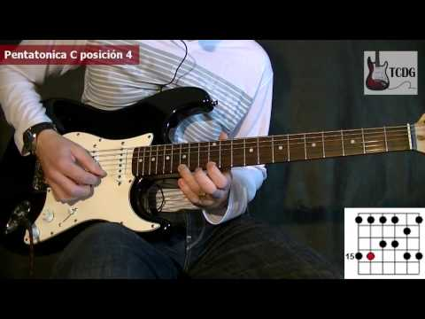 How to Play The Major Pentatonic Scale: 5 positions of C scale / Guitar Lesson Tutorial TCDG
