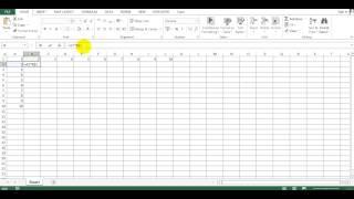 как создать таблицу умножения на Excel