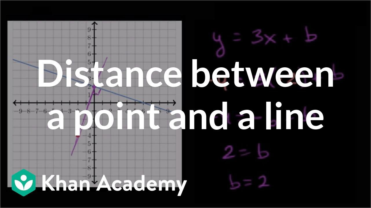 point slope form in 3d  Distance between point & line (video) | Khan Academy
