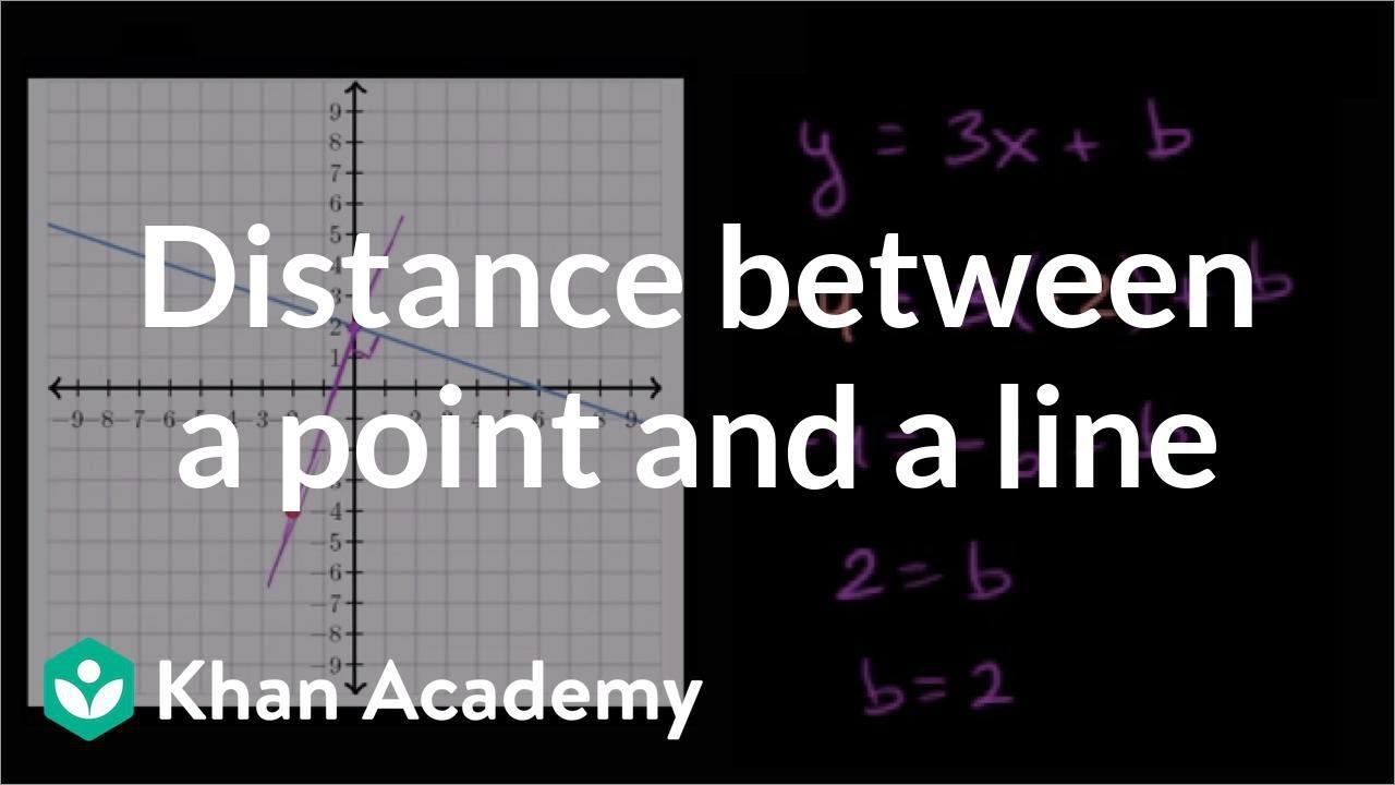 Distance between point \u0026 line (video)   Khan Academy [ 720 x 1280 Pixel ]