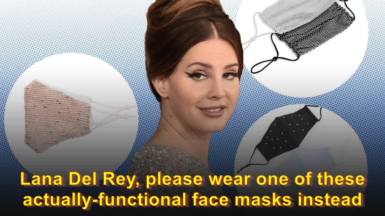 Lana Del Rey Please Wear One Of These Actually Functional Face Masks Instead Youtube