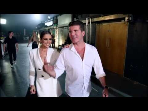 Cheryl dancing to Crazy Stupid Love BackstageX Factor 2015