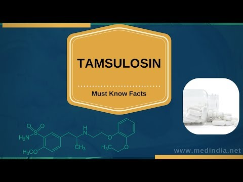 Tamsulosin: Drug For Treating Enlarged Prostate Or BPH And  Urinary Retention