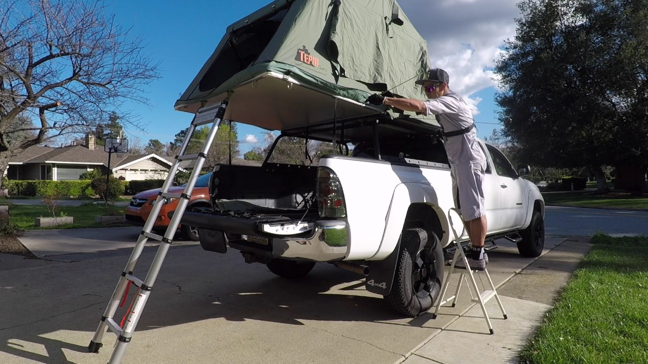 Tepui roof top tent setup & Tepui roof top tent setup - YouTube