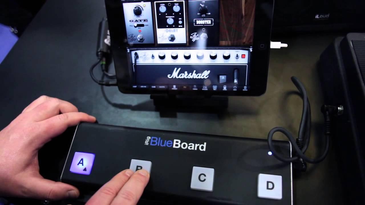 IK NAMM 2013: iRig BlueBoard - The First Wireless MIDI Pedalboard  Controller for iPhone, iPad, Mac