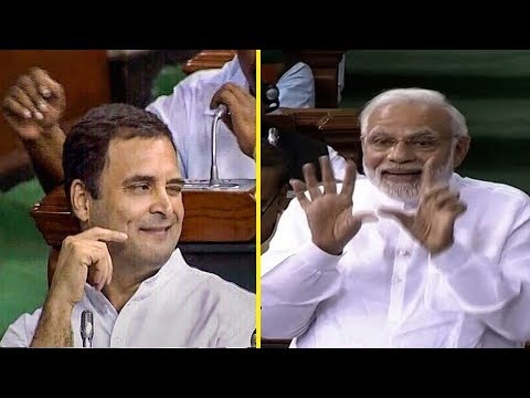 Rahul Gandhi's hug & wink act and how PM Modi responded | FULL VIDEO Mp3