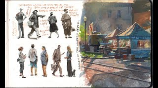 Watercolor and Gouache Techniques for Streetcorner Sketching