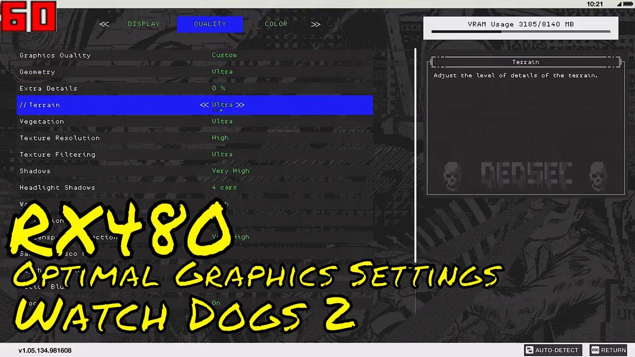 Watch dogs graphics settings tree