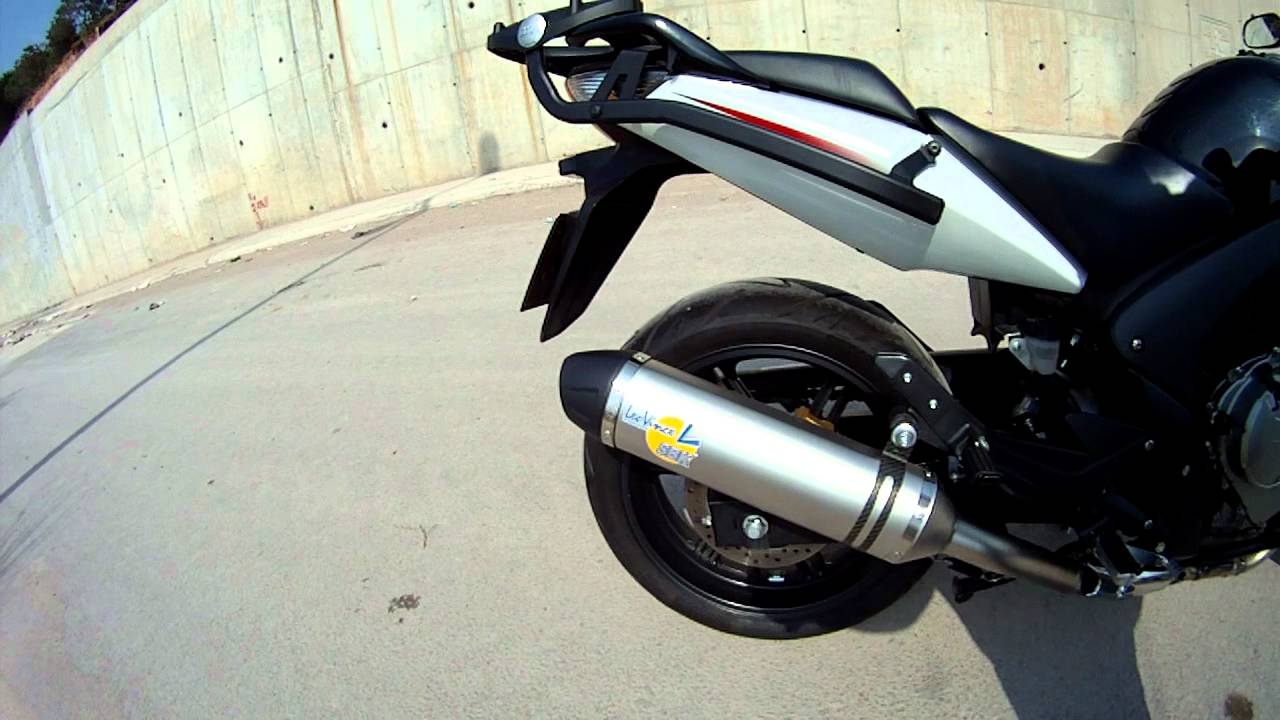 new honda cbf 600 s with leovince exhaust without db killer youtube. Black Bedroom Furniture Sets. Home Design Ideas