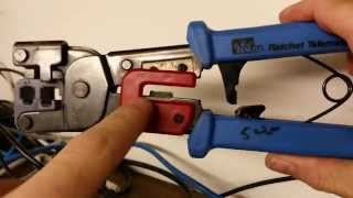 how to fix an ethernet cable proper termination crimp of rj45 connector on cat 5 5e 6