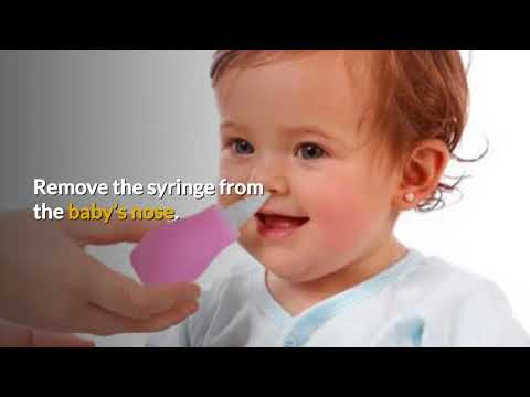 3 ways to clean up baby's nose