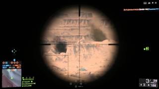 Battlefield 4 Silk Road Sniping Gameplay
