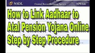 How to Link Aadhaar to Atal Pension Yojana Online Step by Step Procedure