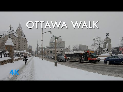Ottawa downtown Street walking