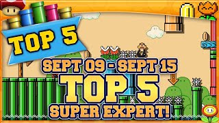 MOST POPULAR COURSES [SEPT09~SEPT15] [5] Super Mario Maker 2 Top 5 Super Expert with Oshikorosu