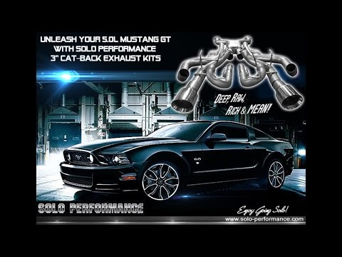 SOLOs 5.0L MUSTANG GT CAT-BACK EXHAUST KITS. FEATURED ON SPEED TV