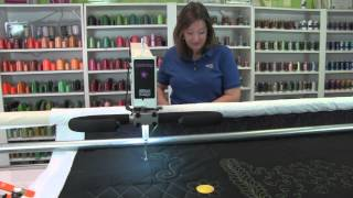 meet lucey longarm quilting machine from apqs