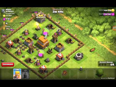 105 Barbarian Attack Strategy- Works Very Well!!-clash Of Clans
